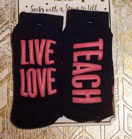 simply southern Live Love Teach Socks