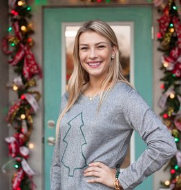 southern grace Shimmer Christmas Tree Sweater