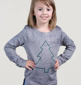 southern grace Youth - Shimmer Christmas Tree Sweater