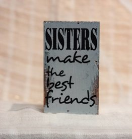 sweet bird and co Sisters Distressed Sign