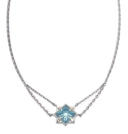 Natalie Wood Designs Runaway Romantic Necklace - Blue Topaz