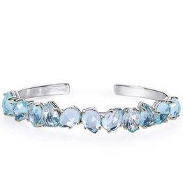 Natalie Wood Designs Teardrop Cuff Bracelet - Blue Topaz