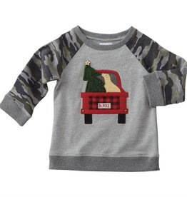 mud pie Red Truck Sweatshirt