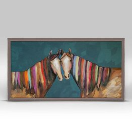 Manes of Color Framed Canvas