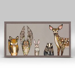 Forest Friends Framed Canvas