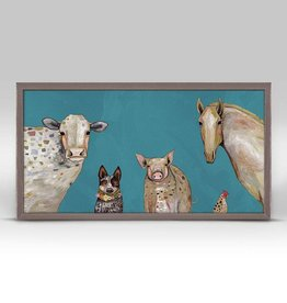 Greenbox Art Farm Friends Framed Canvas