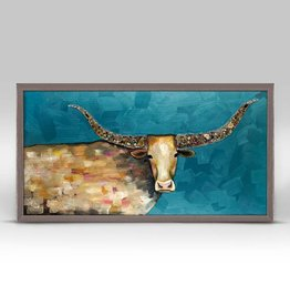 Longhorn Geode Framed Canvas