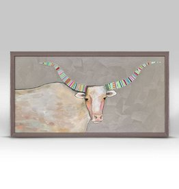 Longhorn Pearl Framed Canvas