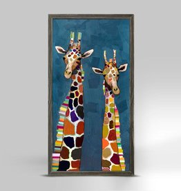 Two Giraffes Framed Canvas
