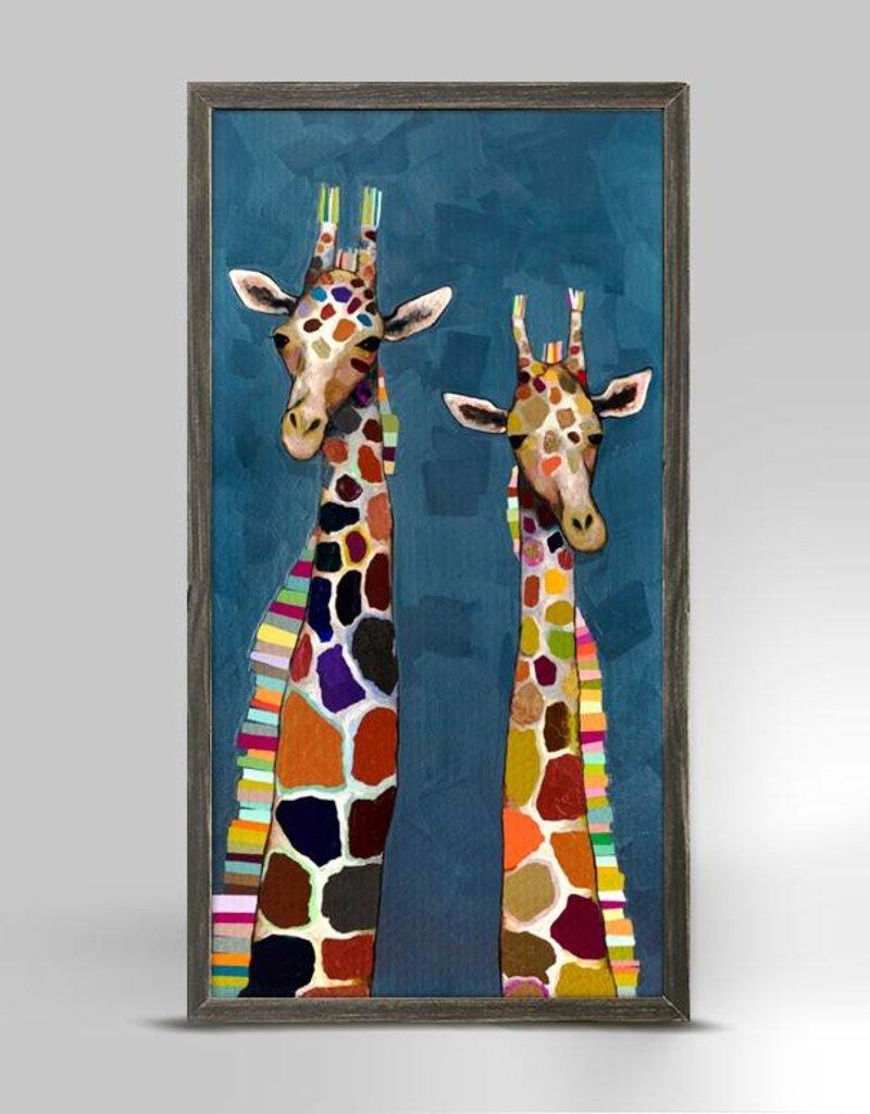 Two Giraffes Framed Canvas