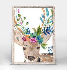 Greenbox Art Boho Deer Framed Canvas