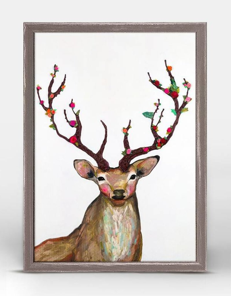 Rosy Buck Framed Canvas