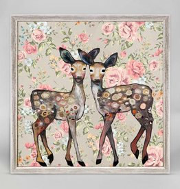 Greenbox Art Dancing Deer Framed Canvas