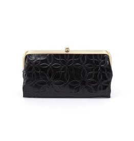 hobo Lauren Clutch Wallet - Embossed Black
