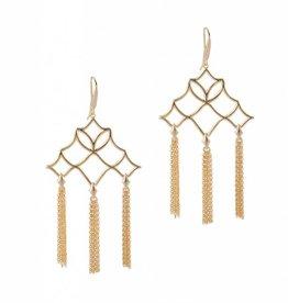Natalie Wood Designs Southern Charm Tassel Earrings - Gold
