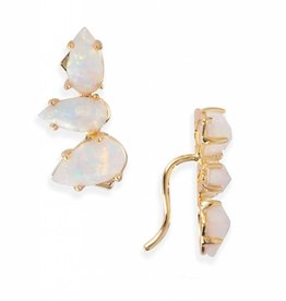 Natalie Wood Designs Teardrop Ear Crawler - Opal