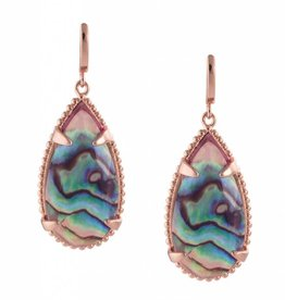Natalie Wood Designs Teardrop Earrings - Abalone Shell