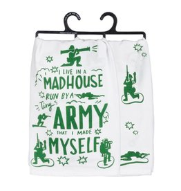 primitives by kathy Tiny Army Humorous Towel