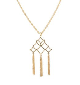 Natalie Wood Designs Southern Charm Tassel Necklace - Gold