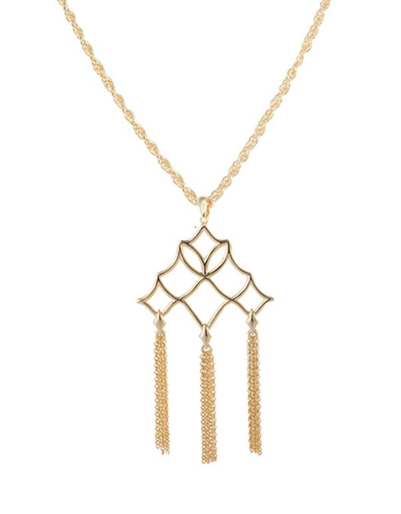 Unique Southern Charm Tassel Necklace - Gold - the busy b HP49