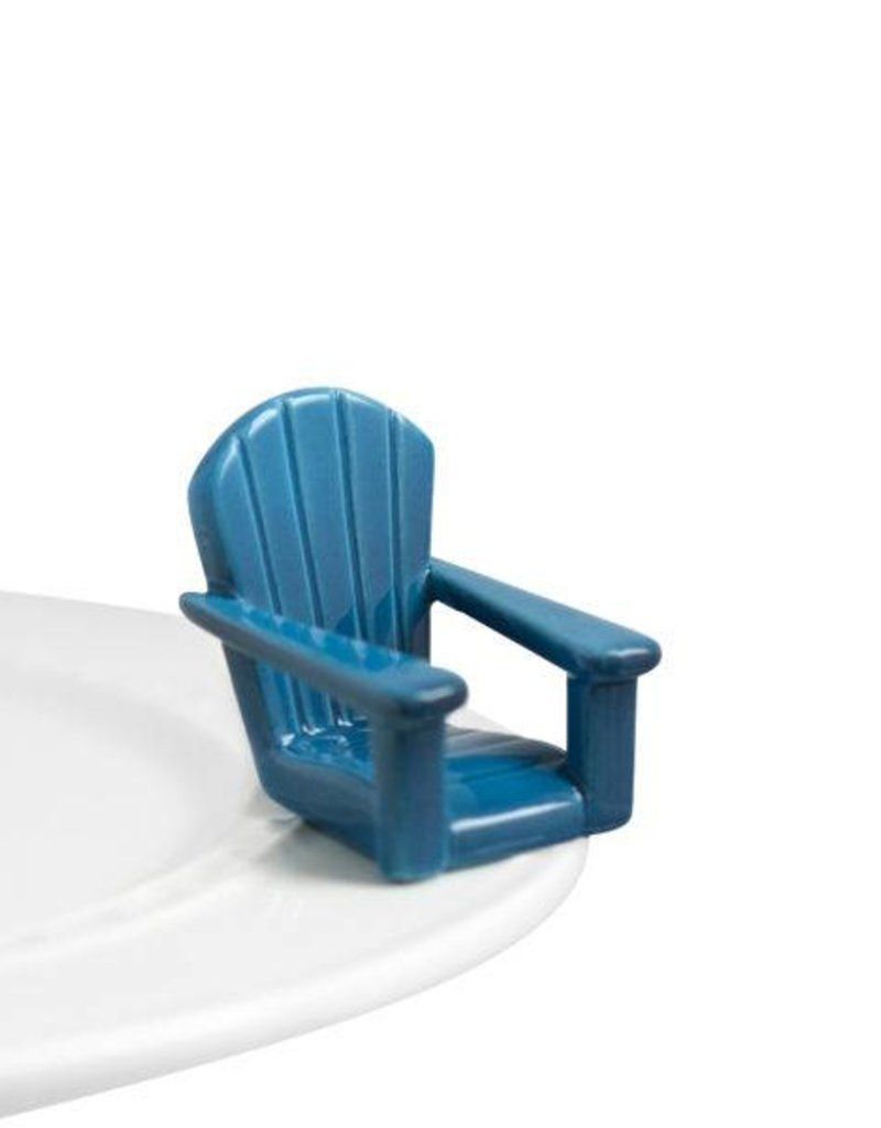 nora fleming A67 Blue Adirondack Chair Mini