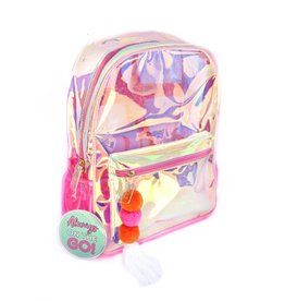 3 happy holigans Pink Iridescent Backpack