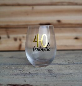 Mudpie 40 Fantastic Wine Glass