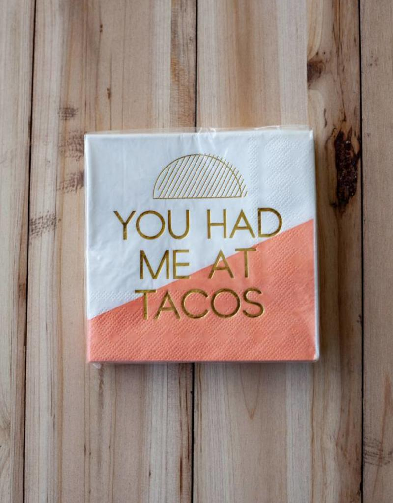 slant collection Had Me At Tacos Beverage Napkins