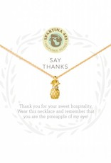 Spartina 449 Say Thanks Pineapple Gold Necklace