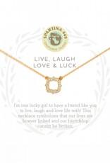 Spartina 449 Luck Quartrefoil Gold Necklace