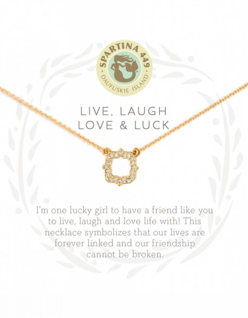 Spartina 449 Luck Quartrefoil Gold Necklace