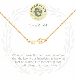 Spartina 449 Cherish Key Gold Necklace