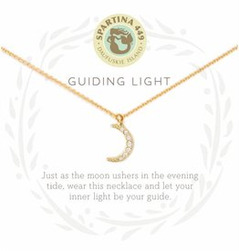 Spartina 449 Guiding Light Crescent Gold Necklace