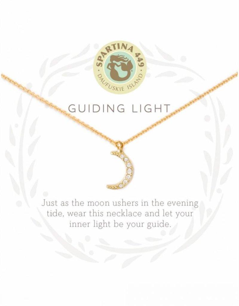 Spartina 449 Guiding Light Crescent Gold Necklace