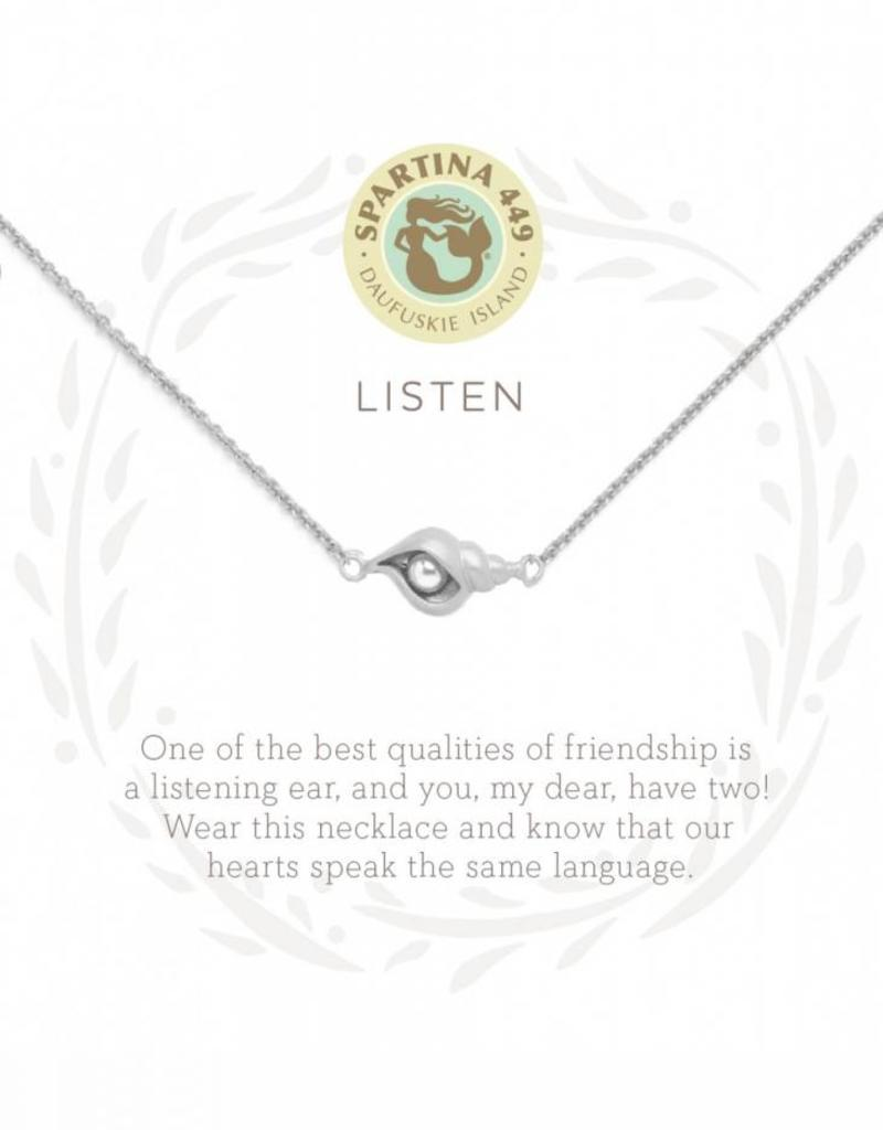Spartina 449 Listen Shell Silver Necklace