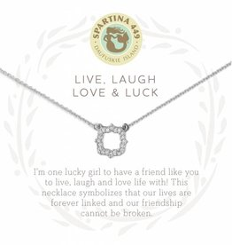 Spartina 449 Luck Quatrefoil Silver Necklace
