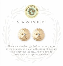 Spartina 449 Sea Wonders Sand Dollar Gold Earrings