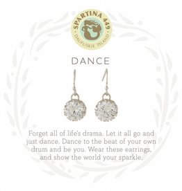 Spartina 449 Dance Gem Silver Earrings