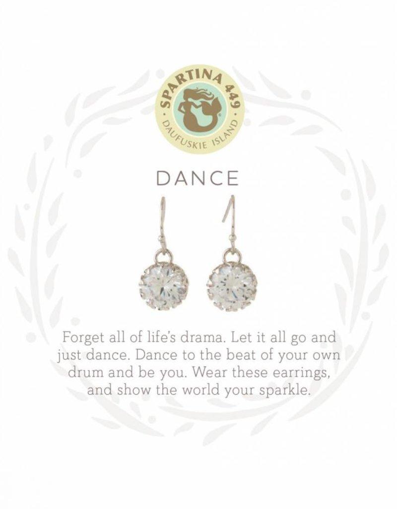 Spartina 449 Dance Gem Silver Earrings