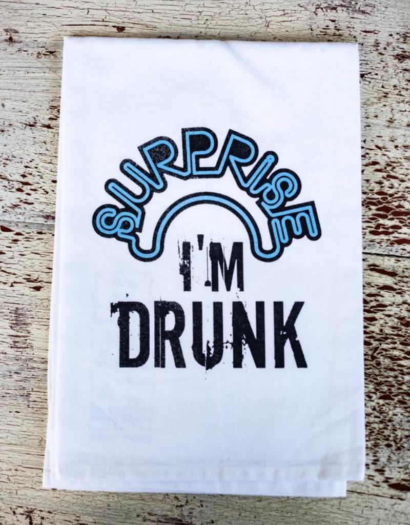 twisted wares Surprise I'm Drunk Towel