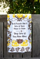 love&fig Best Friends Don't Care Tea Towel