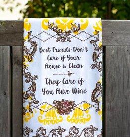 love&fig Best Friends Don't Care Tea Towel