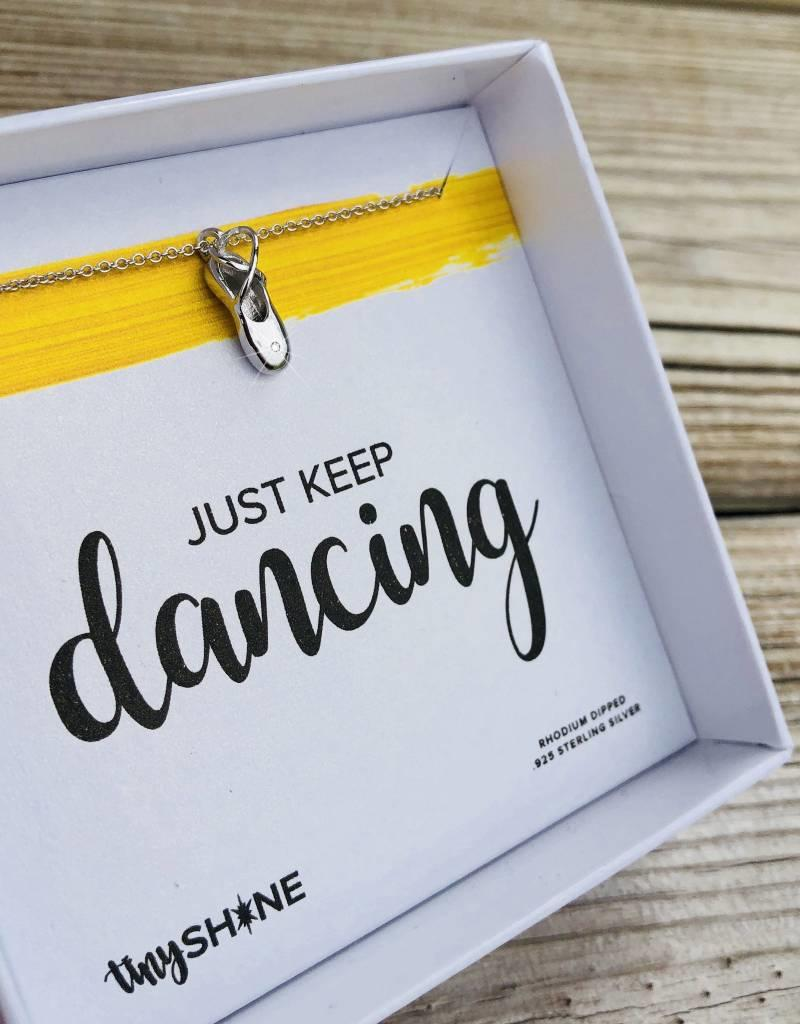 SHINElife Keep Dancing Necklace - Silver