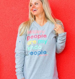 Jadelynn Brooke Happy People Long Sleeved Tee