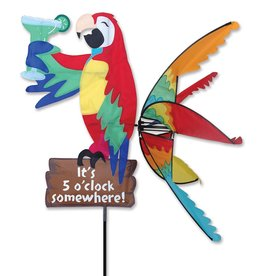 Premier Kites & Designs IT'S 5 O'CLOCK SOMEWHERE PARROT SPINNER 37''