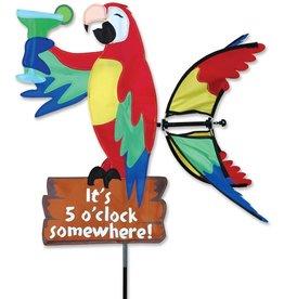 Premier Kites & Designs IT'S 5 O'CLOCK SOMEWHERE PARROT SPINNER 20''