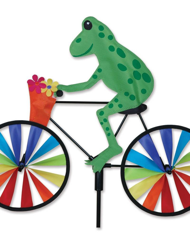 Premier kites designs tree frog on a bike spinner 20 for Garden spinners premier designs