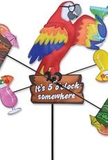 Premier Kites & Designs IT'S 5 O'CLOCK SOMEWHERE PARROT WHIRLIGIG 18''
