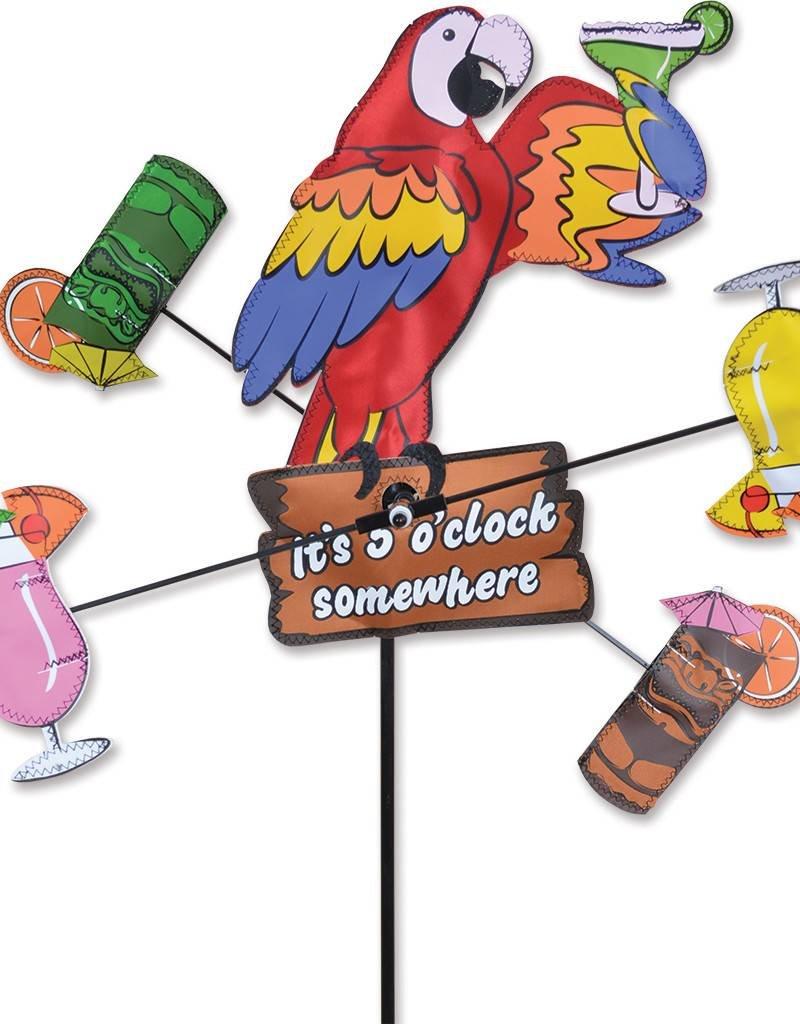 Premier Kites & Designs IT'S 5 O'CLOCK SOMEWHERE PARROT WHIRLIGIG 12''