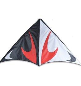 "Premier Kites & Designs TRAVEL DELTA KITE 80"" - RED/BLACK"